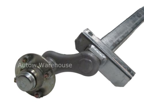 Trailer Axle - Full Beam Unbraked: 500kg - with hubs