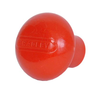 Trailer Jockey Wheel Handle Knob - Bradley: Red