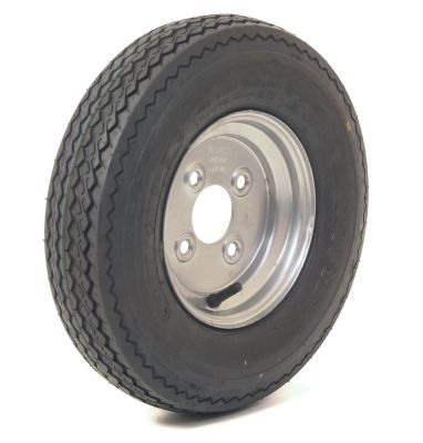 Trailer Wheel: 400x8 4ply 4x100mm pcd