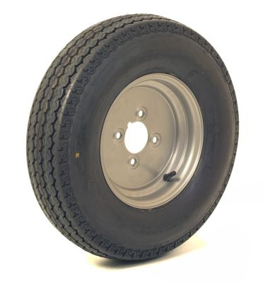 "Trailer Wheel: 500x10 6ply 4x4"" pcd"