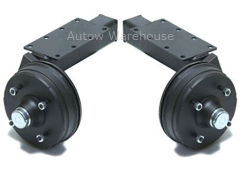 Pair of Suspension Units - Braked: 1300kg