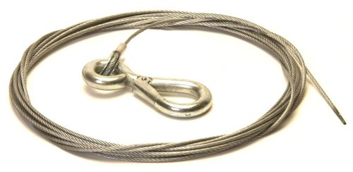 Trailer Winch Cable with Snap Hook: 3mm x 7.5M