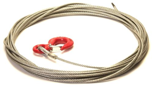 Trailer Winch Cable with Snap Hook: 6mm x 15M