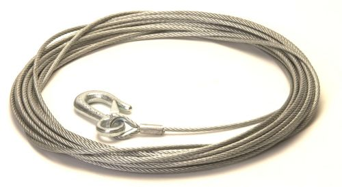 Trailer Winch Cable with Snap Hook: 4mm x 15M