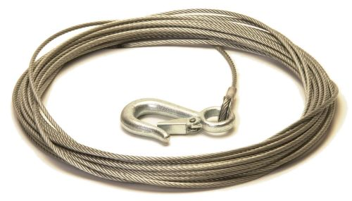 Trailer Winch Cable with Snap Hook: 5mm x 15M