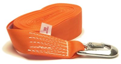 Winch Strap with Snap Hook - 50mm x 10M