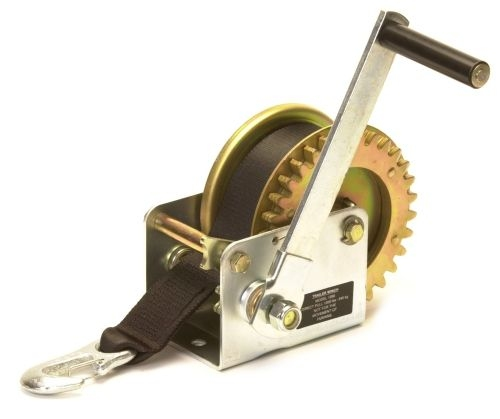 Trailer Winch Manual Budget: 1000lbs with Strap