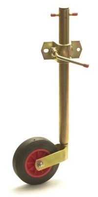 Trailer Jockey Wheel - 34mm Sliding : includes Clamp