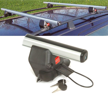 Roof Rack - Roof Rail Kit - Fabbri:  Alu Bars - 116cm pack 2