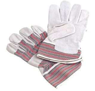 Canadian Style Rigger Leather Gloves - Grey