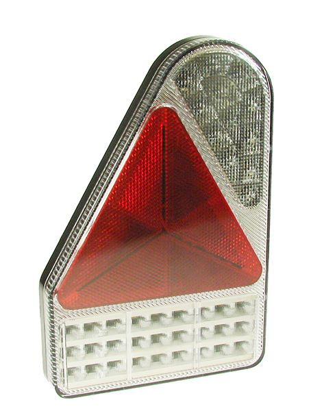 Trailer Light LED - LHS Triangular Slimline Chrome Combinati