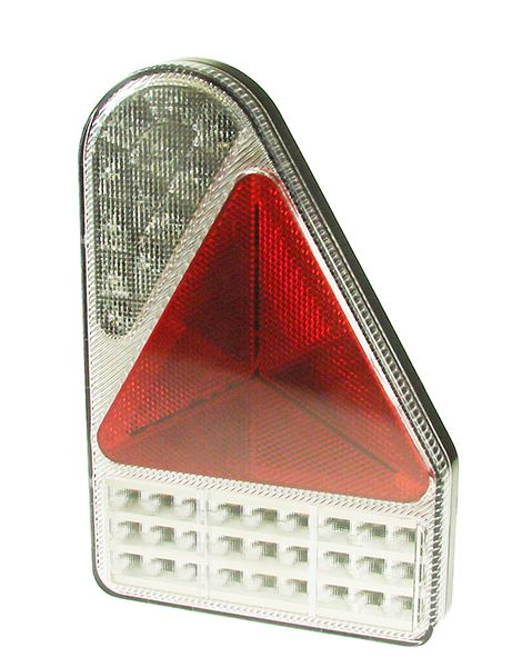 Trailer Light LED - RHS Triangular Slimline Chrome Combinati