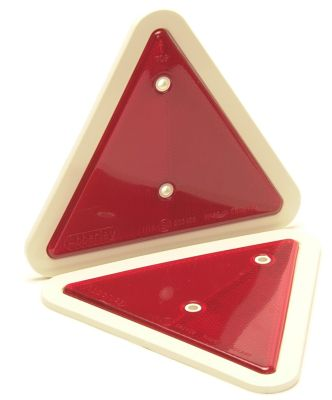 Trailer Reflective Triangles: White Surround - pack 2