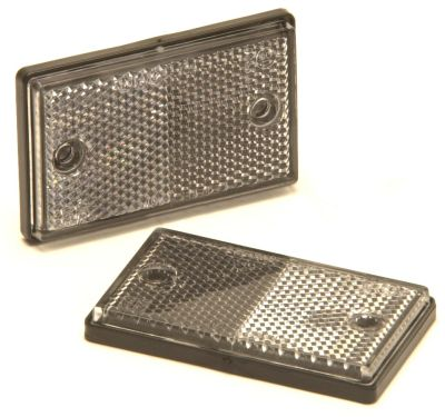 Trailer Reflectors: Clear - Front: (pack 2)