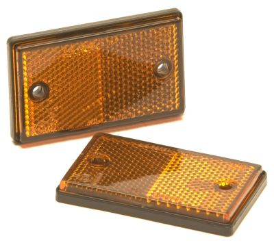 Trailer Reflectors: Amber - Side: (pack 2)