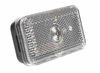 Trailer Light - Clear front position lamp and reflector